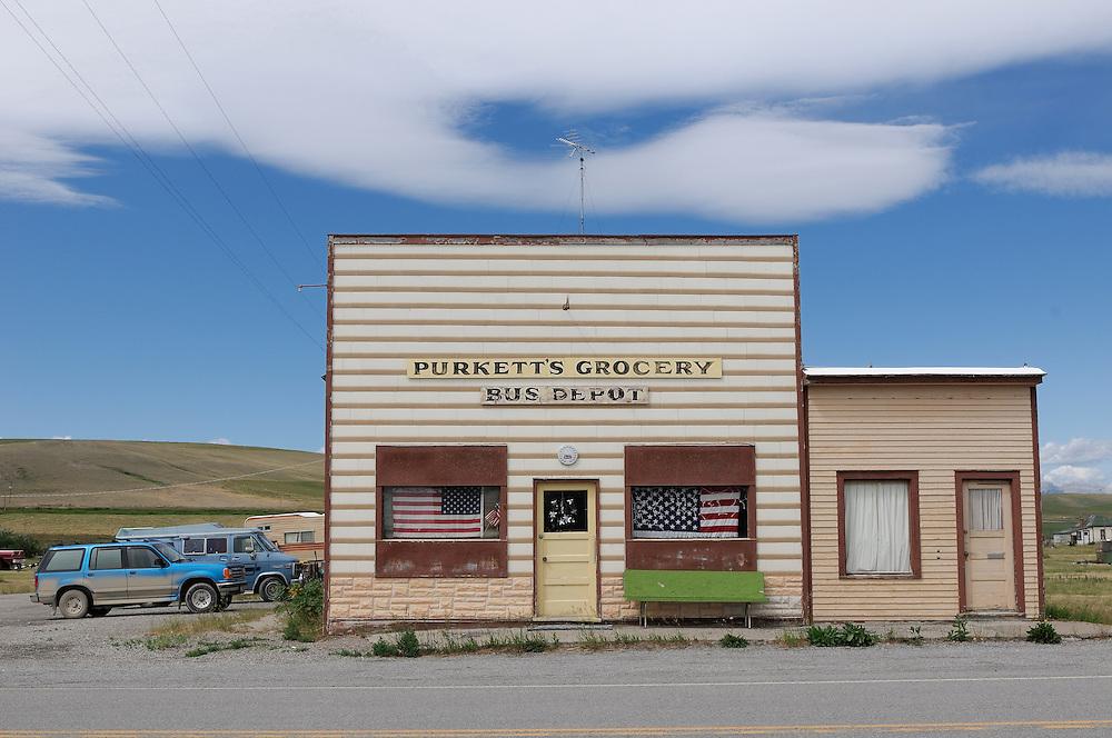 Purkett's Grocery, Bynum, Choteau, Montana, USA