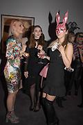 VERONICA ZABOLOPASKR; KLAUDIJA SVANVEARPE; IVETA GRAZULE,, Sotheby's Erotic sale cocktail party, Sothebys. London. 14 February 2018