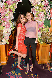 Left to right, sisters LADY VIOLET MANNERS and LADY ALICE MANNERS at a party to celebrate Alice Naylor-Leyland's Collaboration with French Sole held at Annabel's, 44 Berkeley Square, London on February 2nd 2016