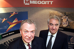 Meggitt PLC. Mark Stacey Chief Executive (wearing red tie) and Terry Twigger, Group Finance Director, September 5, 2000..Photo by Andrew Parsons/i-Images.