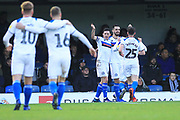 GOAL Jordan Williams celebrates scoring 0-1 during the EFL Sky Bet League 1 match between Southend United and Rochdale at Roots Hall, Southend, England on 22 December 2018.