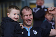 David Clarkson celebrates with son Joshua after scoring the winner - Dundee v Aberdeen, William Hill Scottish FA Cup 4th round at Dens Park<br /> <br />  - &copy; David Young - www.davidyoungphoto.co.uk - email: davidyoungphoto@gmail.com