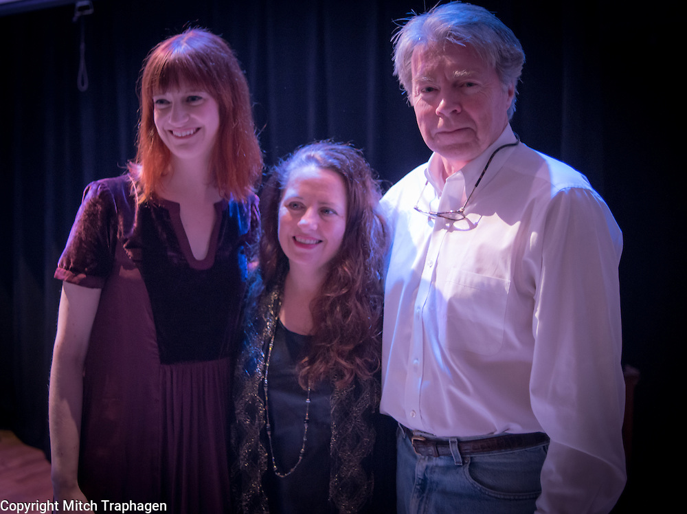 Artists Without Walls 2016 Holiday Showcase at the Cell Theatre in Manhattan, New York City on December 21, 2016. Featuring Niamh Hyland, Charles R. Hale, Laura Neese, Harriet Stubbs, Noah Hoffeld, Elsa Nilsson, Rebeka Butler, Deni Bonet, and Jim Hawkins