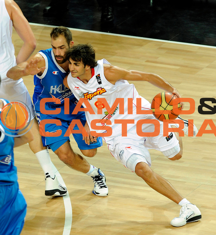 DESCRIZIONE : Istanbul Turchia Turkey Men World Championship 2010 Campionati Mondiali Eight Finals Ottavi Finale Spain Spagna Greece Grecia<br /> GIOCATORE : Ricky Rubio<br /> SQUADRA : Spain Spagna<br /> EVENTO : Istanbul Turchia Turkey Men World Championship 2010 Campionato Mondiale 2010<br /> GARA : Spain Spagna Greece Grecia<br /> DATA : 04/09/2010<br /> CATEGORIA : Palleggio<br /> SPORT : Pallacanestro <br /> AUTORE : Agenzia Ciamillo-Castoria/N.Parausic<br /> Galleria : Turkey World Championship 2010<br /> Fotonotizia : Istanbul Turchia Turkey Men World Championship 2010 Campionati Mondiali Eight Finals Ottavi Finale Spain Spagna Greece Grecia<br /> Predefinita :