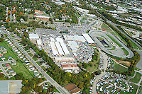 Aerial photo of the Nashville fairgrounds showing the Music City Motorplex during a flea market.