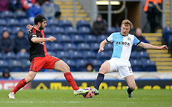 Swansea City's Jordi Amat competes with Blackburn Rovers's Chris Taylor - Photo mandatory by-line: Richard Martin Roberts/JMP - Mobile: 07966 386802 - 24/01/2015 - SPORT - Football - Blackburn - Ewood Park - Blackburn Rovers v Swansea City - FA Cup Fourth Round