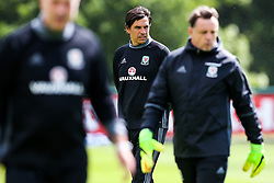 Head Coach Chris Coleman looks on as Wales train ahead of their World Cup Qualifier against Serbia - Rogan Thomson/JMP - 07/06/2017 - Vale Resort - Hensol, Wales - Wales Football Training.