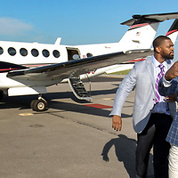 The three players arrive at an airport outside Hoover. ©Travis Bell Photography