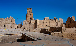 A ruined, but still occupied,  kasbah near  Tazenakht, southern Morocco, Africa<br /> <br /> (c) Andrew Wilson | Edinburgh Elite media