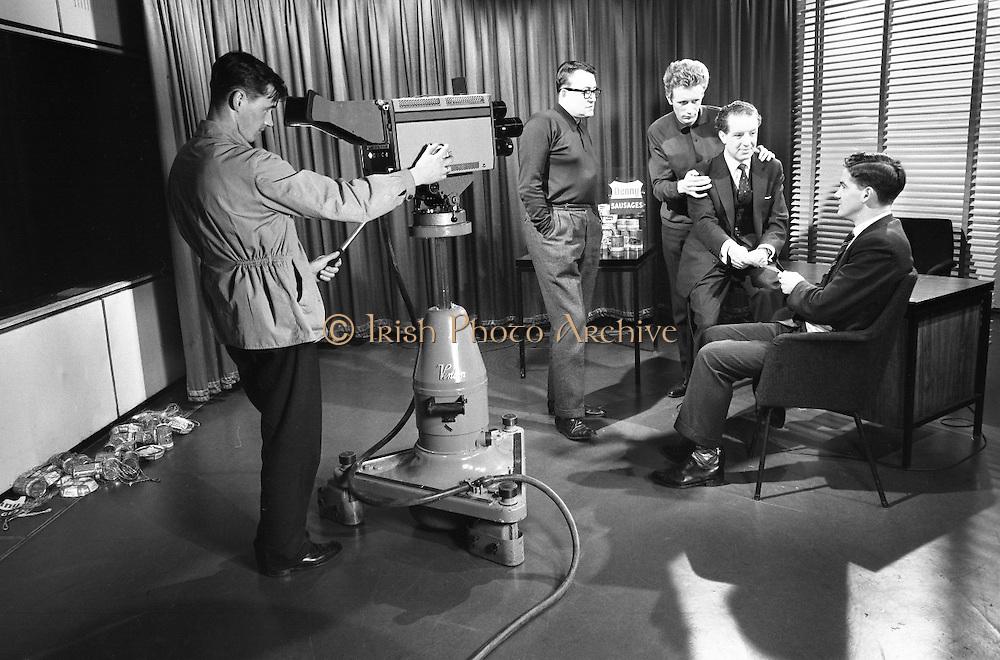 Denny's Slogan Winner commercial is filmed at Raidio Telefís Éireann..06.12.1962