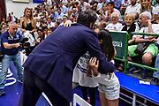 Gianmarco Pozzecco, TIfosi<br /> Banco di Sardegna Dinamo Sassari - Umana Reyer Venezia<br /> LBA Serie A Postemobile 2018-2019 Playoff Finale Gara 4<br /> Sassari, 16/06/2019<br /> Foto L.Canu / Ciamillo-Castoria