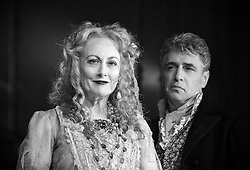 Paula Wilcox as Miss Havisham. Paul Nivison as Adult Pip,.Great Expectations.by Charles Dickens..adapted by Jo Clifford.directed by Graham McLaren.at The Vaudeville Theatre, London, Great Britain, February 4, 2013. Photo by Elliott Franks / i-Images.