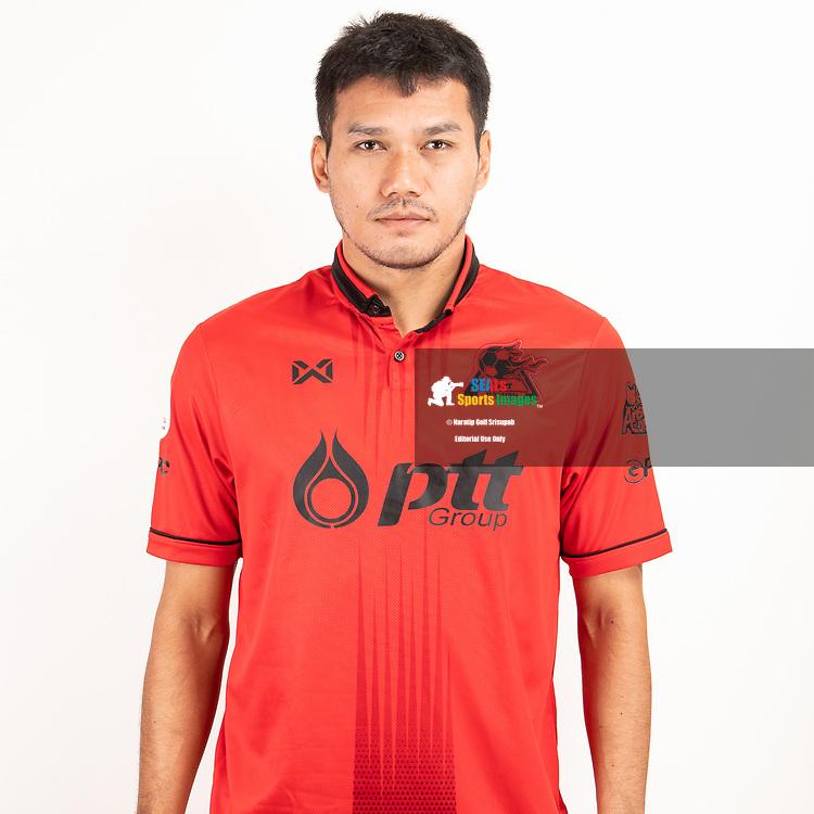 THAILAND - JUNE 09: Koravit Namwiset #15 of PTT Rayong FC on June 09, 2019.<br /> .<br /> .<br /> .<br /> (Photo by: Naratip Golf Srisupab/SEALs Sports Images/MB Media Solutions)
