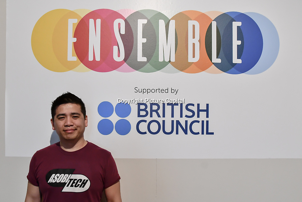 Quang Nguyen is a Indie developer game attend at London Games Festival 2019: HUB at Somerset House at Strand, London, UK. on 2nd April 2019.