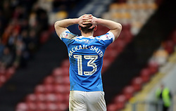 Craig Mackail-Smith of Peterborough United cuts a dejected figure after missing a chance to score - Mandatory by-line: Joe Dent/JMP - 04/03/2017 - FOOTBALL - Coral Windows Stadium - Bradford, England - Bradford City v Peterborough United - Sky Bet League One