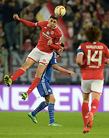 Fotball , v.l. Leon Balogun (Mainz), Klaas-Jan Huntelaar<br /> Mainz, 12.02.2016, Fussball Bundesliga, 1. FSV Mainz 05 - FC Schalke 04<br /> Norway only