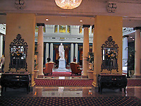 Statue, Thomas Jefferson, Lobby, Jefferson Hotel, Richmond, Virginia, USA, 200705200347..Copyright Image from Victor Patterson, 54 Dorchester Park, Belfast, UK, BT9 6RJ..Tel: +44 28 9066 1296.Mob: +44 7802 353836.Voicemail +44 20 8816 7153.Skype: victorpattersonbelfast.Email: victorpatterson@mac.com.Email: victorpatterson@ireland.com (back-up)..IMPORTANT: If you wish to use this image or any other of my images please go to www.victorpatterson.com and click on the Terms & Conditions. Then contact me by email or phone with the reference number(s) of the image(s) concerned.