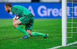 Jan Oblak of Slovenia during football match between National teams of Slovenia and England in Round #3 of FIFA World Cup Russia 2018 Qualifier Group F, on October 11, 2016 in SRC Stozice, Ljubljana, Slovenia. Photo by Vid Ponikvar / Sportida