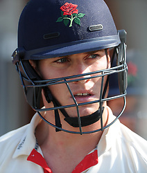 Lancashire's Luis Reece - Photo mandatory by-line: Harry Trump/JMP - Mobile: 07966 386802 - 08/04/15 - SPORT - CRICKET - Pre Season - Somerset v Lancashire - Day 2 - The County Ground, Taunton, England.