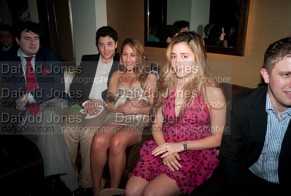 ALEXANDER MASRI; CHARLOTTE MASRI; DOG; LOUIS;  NATALIE HYAM, Drinks soiree and silent auction of Ô100 ThingsÕ,  hosted by the Mayor of London Boris Johnson, in aid of the Legacy List. 50 St. James. London. 2 November 2011. <br /> <br />  , -DO NOT ARCHIVE-© Copyright Photograph by Dafydd Jones. 248 Clapham Rd. London SW9 0PZ. Tel 0207 820 0771. www.dafjones.com.<br /> ALEXANDER MASRI; CHARLOTTE MASRI; DOG; LOUIS;  NATALIE HYAM, Drinks soiree and silent auction of '100 Things',  hosted by the Mayor of London Boris Johnson, in aid of the Legacy List. 50 St. James. London. 2 November 2011. <br /> <br />  , -DO NOT ARCHIVE-© Copyright Photograph by Dafydd Jones. 248 Clapham Rd. London SW9 0PZ. Tel 0207 820 0771. www.dafjones.com.
