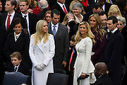 Ivanka Trump stands with her siblings Tiffany Trump, Baron Trump, Don Trump, Jr., husband Jared Kushner and Victoria Trump during the President Inaugural Ceremony on Capitol Hill January 20, 2017 in Washington, DC. Donald Trump became the 45th President of the United States in the ceremony.