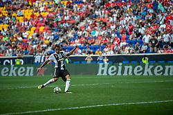 July 28, 2018 - Harrison, New Jersey, United States - Juventus forward STEFANO BELTRAME (41) takes a penalty kick  during the International Champions Cup at Red Bull Arena in Harrison, NJ.  Juventes defeats SL Benfica 1-1  (Credit Image: © Mark Smith via ZUMA Wire)