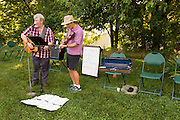 Dave Borowski (Left) and Mark Barsamian provided music for the Child Development Center's annual garden party. Photo by Ben Siegel/ Ohio University