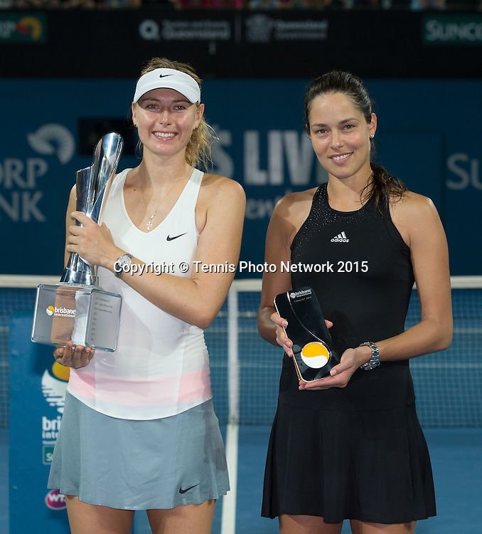 Siegerehrung mit Maria Sharapova, Ana Ivanovic<br />