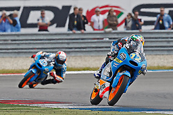 23.09.2012, TT Circuit, Assen, NED, MotoGP, Assen, im Bild 12 Alex Marquez, 42 Alex Rins // during the MotoGP Iveco TT Assen at the TT Circuit in Assen, Netherlands on 2012/09/23. EXPA Pictures © 2014, PhotoCredit: EXPA/ Eibner-Pressefoto/ FOTO-SPO_AG<br /> <br /> *****ATTENTION - OUT of GER*****
