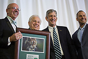 """Charles """"Skip"""" Vosler accepts The Kermit Blosser Ohio Athletics Hall of Fame Lifetime Achievement Award at the Alumni Awards Gala on October 6, 2017."""