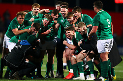 Ireland players celebrate at the end of the game - Mandatory by-line: Ken Sutton/JMP - 01/02/2019 - RUGBY - Irish Independent Park - Cork, Cork - Ireland U20 v England U20 -