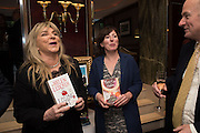 HELEN LEDERER; NINA STIBBE, David Campbell Publisher of Everyman's Library and Champagen Bollinger celebrate the completion of the Everyman Wodehouse in 99 volumes and the 2015 Bollinger Everyman Wodehouse prize shortlist. The Archive Room, The Goring Hotel. London. 20 April 2015.