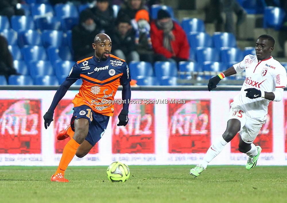 SOULEYMANE CAMARA - 07.02.2015 - Montpellier / Lille - 24eme journee de Ligue 1<br /> Photo : Andre Delon / Icon Sport