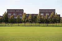 Golfbaan en bomenrij bij Slot Haverleij