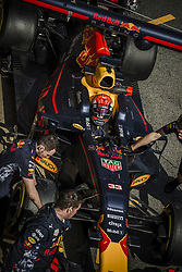 March 10, 2017 - Montmelo, Catalonia, Spain - MAX VERSTAPPEN (NED) of team Red Bull at the pit stop at day 8 of Formula One testing at Circuit de Catalunya (Credit Image: © Matthias Oesterle via ZUMA Wire)