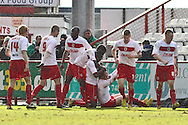 Picture by David Horn/Focus Images Ltd +44 7545 970036.16/03/2013.Dani Lopez of Stevenage celebrates scoring his side's first goal during the npower League 1 match at the Lamex Stadium, Stevenage.