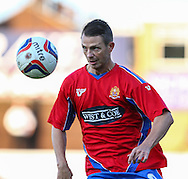 Jamie Cureton of Dagenham and Redbridge during the Pre Season Friendly match at the London Borough of Barking and Dagenham Stadium, London<br /> Picture by David Horn/Focus Images Ltd +44 7545 970036<br /> 22/07/2014