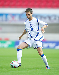 LLANELLI, WALES - Wednesday, August 15, 2012: Bosnia-Herzegovina's Miralem Pjanic in action against Wales during the international friendly match at Parc y Scarlets. (Pic by David Rawcliffe/Propaganda)