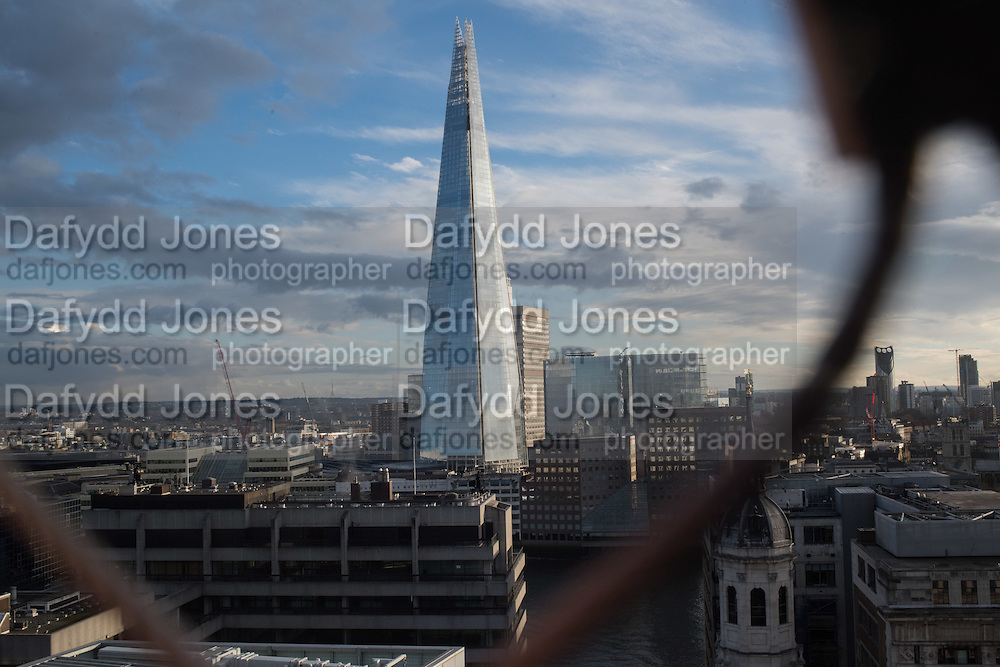 The Shard from The Monument, City of London. 4 March 2016