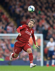 LIVERPOOL, ENGLAND - Sunday, March 31, 2019: Liverpool's Roberto Firmino during the FA Premier League match between Liverpool FC and Tottenham Hotspur FC at Anfield. (Pic by David Rawcliffe/Propaganda)