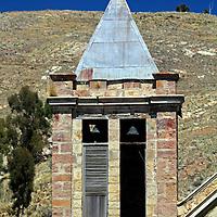 South America, Bolivia, Pariti. Church on Pariti Island in Lake Titicaca.