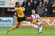 Leon Legge and Billy Waters during the EFL Sky Bet League 2 match between Cambridge United and Cheltenham Town at the R Costings Abbey Stadium, Cambridge, England on 26 November 2016. Photo by Antony Thompson.