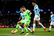 FC Schalke 04 forward Guido Burgstaller (19) during the Champions League round of 16, leg 2 of 2 match between Manchester City and FC Schalke 04 at the Etihad Stadium, Manchester, England on 12 March 2019.