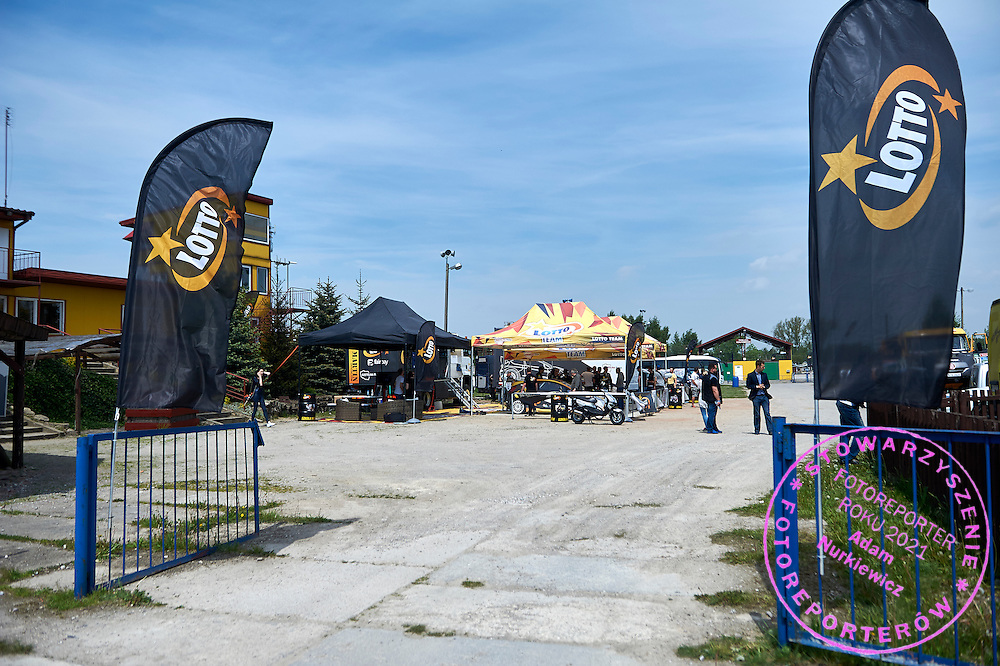 General view on Lotto's workshop during training session on rally cross track on May 19, 2015 in Slomczyn, Poland<br /> <br /> Poland, Slomczyn, May 19, 2015<br /> <br /> Picture also available in RAW (NEF) or TIFF format on special request.<br /> <br /> For editorial use only. Any commercial or promotional use requires permission.<br /> <br /> Adam Nurkiewicz declares that he has no rights to the image of people at the photographs of his authorship.<br /> <br /> Mandatory credit:<br /> Photo by &copy; Adam Nurkiewicz / Mediasport