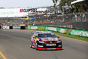 Jamie Whincup (Red Bull Holden) on his way to winning Race 1. 2016 Clipsal 500 Adelaide. V8 Supercars Championship Round 1. Adelaide Street Circuit, South Australia. Saturday 5 March 2016. Photo: Clay Cross / photosport.nz
