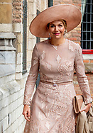 MIDDELBURG - King Willem-Alexander, Her Majesty Queen Maxima and will be present on Wednesday 16 May 2018 at the presentation of the Franklin D. Roosevelt Four Freedoms Awards in the Nieuwe Kerk in Middelburg. Her Royal Highness Princess Beatrix of the Netherlands is also present at the ceremony. The Prime Minister awards the International Four Freedoms Award to Christiana Figueres, representative of the Paris Climate Agreement.This year, the Awards for Freedom of Expression, Freedom of Religion, Indemnity and Deficiencies are being awarded to Erol &Ouml;nderoǧlu from Turkey, Bishop Paride Taban from South Sudan, Emmanuel de Merode from the Virunga Alliance in Democratic Republic of Congo and Urmila Chaudhary from Nepal.<br /> copyrught robin utrecht <br /> <br /> <br /> MIDDELBURG - De winnaars van de Four Freedoms Awards poseren voor een groepsfoto met koning Willem-Alexander, koningin Maxima en prinses Beatrix tijdens de uitreiking in de Nieuwe Kerk in Middelburg. ANP ROYAL IMAGES ROBIN UTRECHT