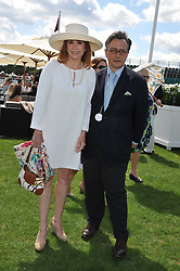 TOMASZ STARZEWSKI and STEFANIE POWERS at the 27th annual Cartier International Polo Day featuring the 100th Coronation Cup between England and Brazil held at Guards Polo Club, Windsor Great Park, Berkshire on 24th July 2011.
