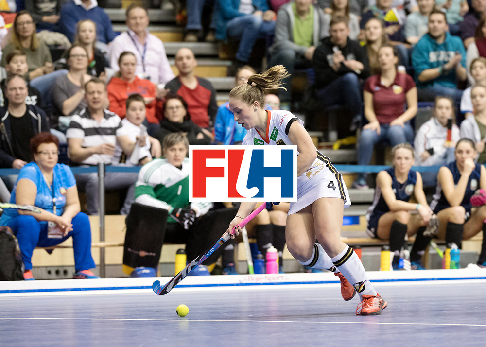 BERLIN - Indoor Hockey World Cup<br /> SF2 Belarus - Germany<br /> foto: Nike Lorenz  <br /> WORLDSPORTPICS COPYRIGHT FRANK UIJLENBROEK
