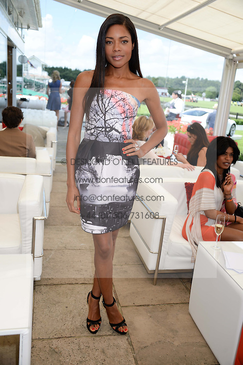 NAOMIE HARRIS at the Audi International Polo at Guards Polo Windsor Great Park, Egham, Surrey on 28th July 2013.