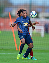 KIRKBY, ENGLAND - Saturday, January 26, 2019: Manchester United's Anthony Elanga during the FA Premier League match between Liverpool FC and Manchester United FC at The Academy. (Pic by David Rawcliffe/Propaganda)